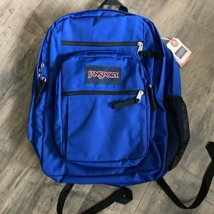 Jansport big student backpack blue new with tags